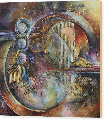 'visions Of Eight' Wood Print by Michael Lang