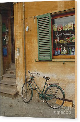 Wood Print featuring the photograph Visions Of Italy 4 by Nancy Bradley