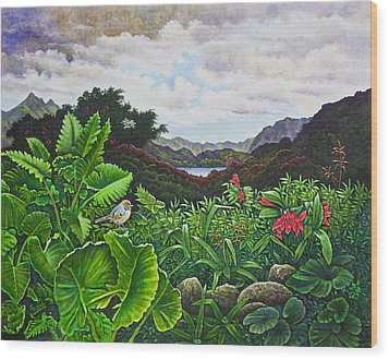 Visions Of Paradise Viii Wood Print by Michael Frank