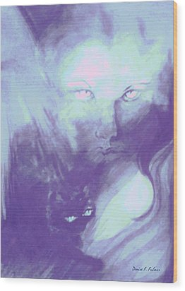 Wood Print featuring the painting Visions Of The Night by Denise Fulmer