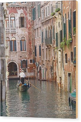 Visions Of Venice 2. Wood Print by Nancy Bradley