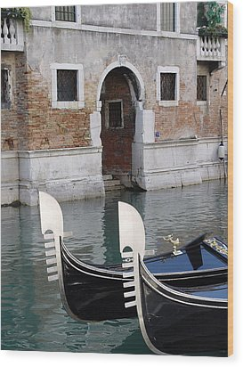 Visions Of Venice 3. Wood Print by Nancy Bradley
