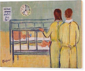 Visiting Jeff Wood Print by Elzbieta Zemaitis