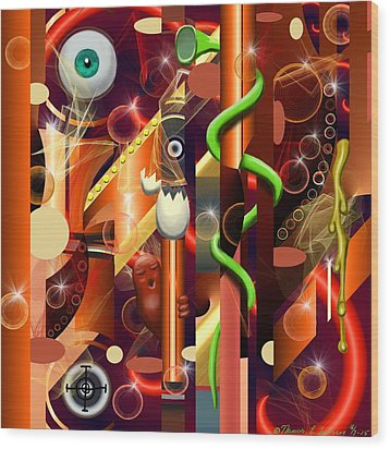 Visual Jazz Wood Print
