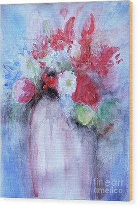 Wood Print featuring the painting Vitality Still Life by Jasna Dragun