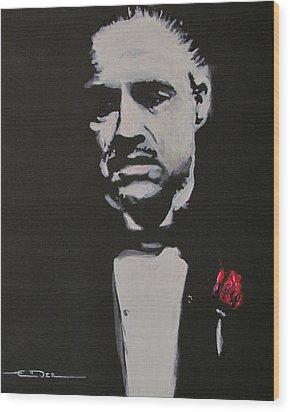 Vito Andolini Corleone Wood Print by Eric Dee