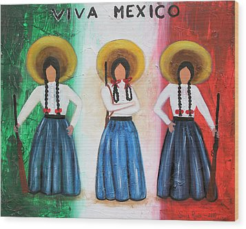 Viva Mexico Wood Print
