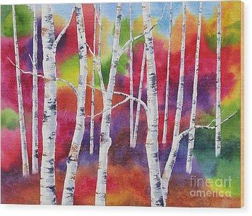 Vivid Autumn Wood Print by Deborah Ronglien