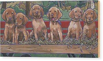 Vizsla Pups Wood Print by Nadi Spencer