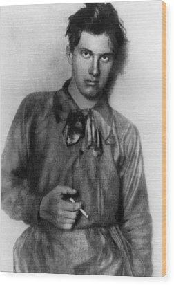 Vladimir Mayakovsky 1893-1930, Russian Wood Print by Everett