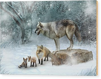 Vladimir Vanessa And The Vixens  Wood Print by Julie L Hoddinott