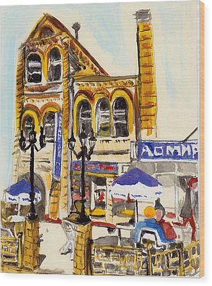 Vladivostok Train Station Wood Print by Julie Todd-Cundiff
