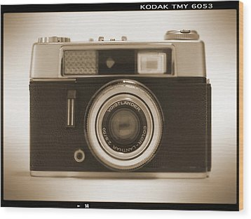 Voigtlander Rangefinder Camera Wood Print by Mike McGlothlen