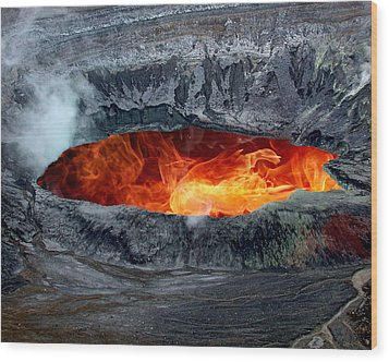 Volcanic Eruption Wood Print