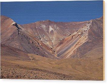 Volcano Crater In Siloli Desert Wood Print