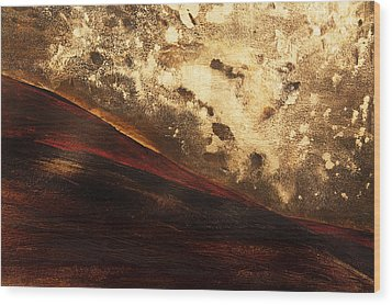 Volcano Sunrise Wood Print by Tara Thelen - Printscapes