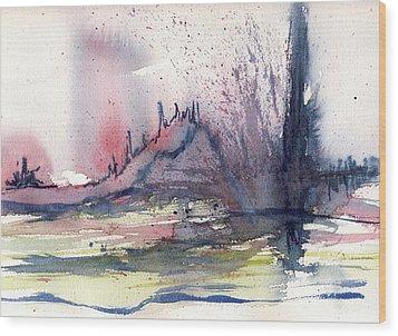 Volcano Wood Print by Susan Mott