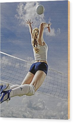 Volleyball Wood Print by Steve Williams