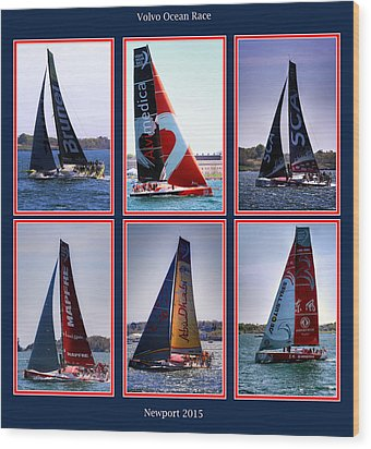 Volvo Ocean Race Newport 2015 Wood Print by Tom Prendergast