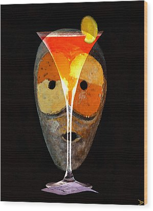 Wood Print featuring the painting Voodoo Martini by David Lee Thompson
