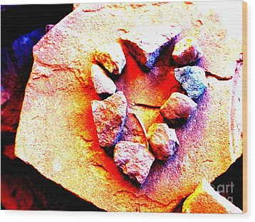 Vortex Heart Red Rocks Wood Print