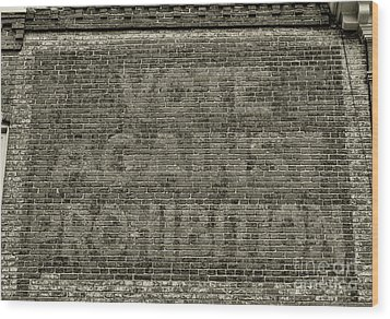 Wood Print featuring the photograph Vote Against Prohibition 1 by Paul Ward