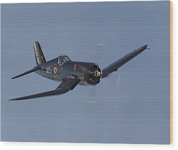 Vought Corsair Wood Print