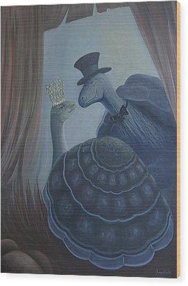Wood Print featuring the painting Voulez Vous Danser Avec Moi Ma Tendresse by Tone Aanderaa