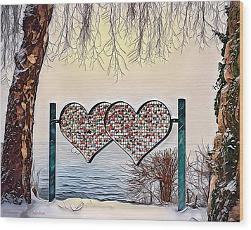 Wood Print featuring the digital art Vow Of Love by Pennie McCracken