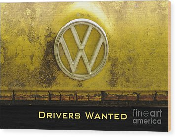 Vw Drivers Wanted Wood Print