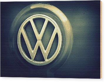 Vw Thing Emblem Wood Print by Joseph Skompski