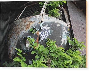Vw Van Wall Wood Print