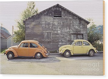 Vw's In Skagway Alaska Wood Print