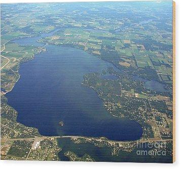 W-032 Wissota Lake Eau Claire County Wisconsin Wood Print