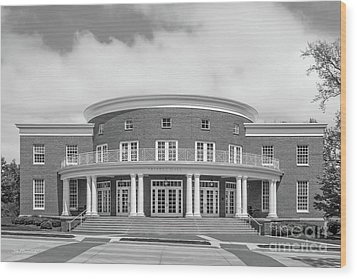 Wabash College Trippet Hall Wood Print by University Icons
