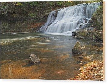 Wadsworth Falls Wood Print