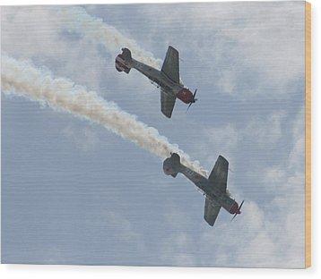 Wafb 09 Yak 52 Aerostar 7 Wood Print by David Dunham