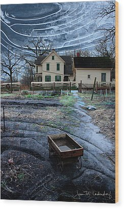 Wagon Wood Print by Joan Ladendorf