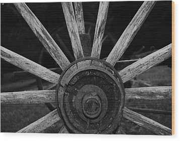 Wood Print featuring the photograph Wagon Wheel by Eric Liller