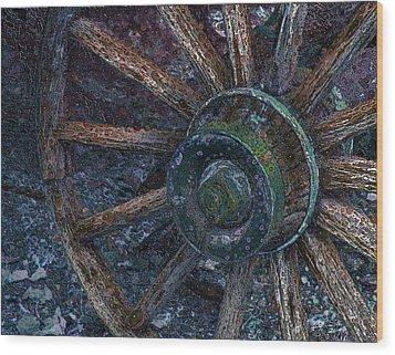 Wagon Wheel Wood Print by Stuart Turnbull