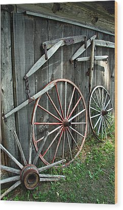 Wood Print featuring the photograph Wagon Wheels by Joanne Coyle