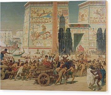 Wagons Detail From Israel In Egypt Wood Print by Sir Edward John Poynter