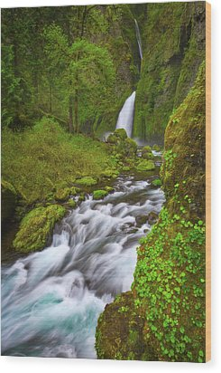 Wood Print featuring the photograph Wahclella Falls by Darren White
