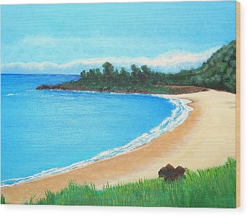 Waimea Bay Wood Print