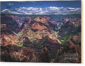 Waimea Canyon On Kauai Wood Print