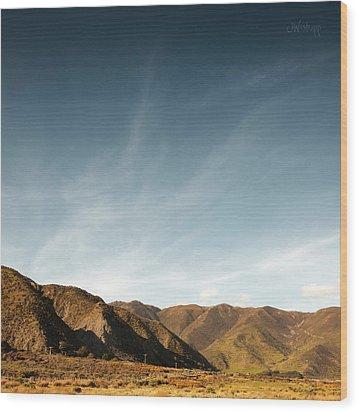 Wainui Hills Squared Wood Print by Joseph Westrupp