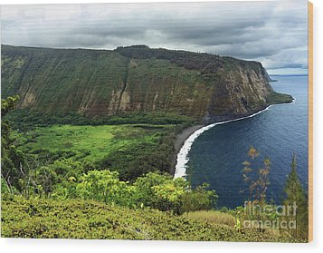 Waipio Valley Wood Print