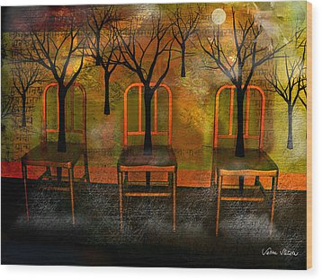 Waiting For A Miracle Wood Print by Sabine Stetson
