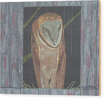 Waiting For Dusk Wood Print by Anita Putman
