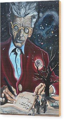 Waiting For Godot- Samuel Beckett Wood Print by David Fossaceca